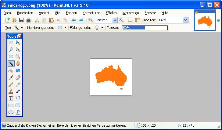 Farben transparent setzen mit Paint.NET - Web Entwicklung